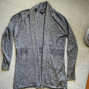 Black marled cardigan